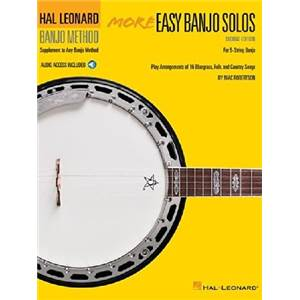 COMPILATION - MORE EASY BANJO SOLOS 2ND EDITION FOR 5 STRING BANJO + DOWNLOADING CODE