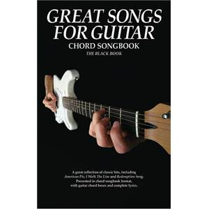 COMPILATION - GREAT SONGS FOR GUITAR CHORD SONGBOOK BLACK BOOK