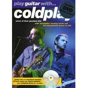 COLDPLAY - PLAY GUITAR WITH TAB. CD + DVD