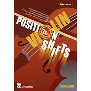 DEZAIRE NICOLAS - POSITION VIOLIN SHIFTS POSITION 1 3 + CD