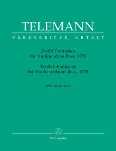 TELEMANN GEORG PHILIPP - FANTAISIES (12) TWV 40 : 14 A 25 - VIOLON SEUL