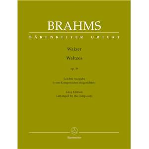 BRAHMS JOHANNES - VALSES OPUS 39 VERSION FACILE - PIANO