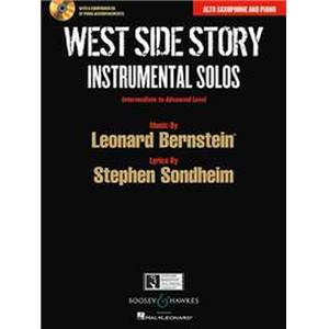 BERNSTEIN LEONARD - WEST SIDE STORY INSTRUMENTAL SOLOS + CD (10 PIECES) - SAXOPHONE MIB/PIANO