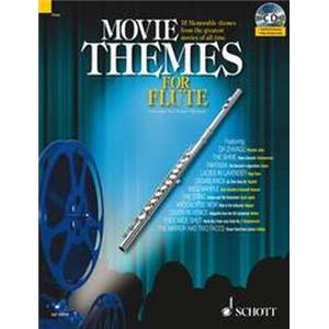 COMPILATION - MOVIE THEMES FOR FLUTE (12 THEMES) + CD