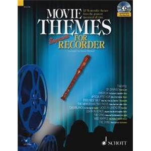 COMPILATION - MOVIE THEMES FOR SOPRANO RECORDER + CD FLUTE A BEC SOPRANO
