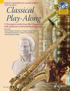 COMPILATION - CLASSICAL PLAY-ALONG (12 PIECES) +CD - SAXOPHONE TENOR (SIB)
