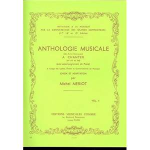 MERIOT MICHEL - ANTHOLOGIE MUSICALE VOL.2 (26 AIRS CLASSIQUES) - FORMATION MUSICALE