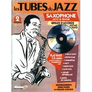 COMPILATION - TUBES DU JAZZ SAXOPHONE VOL.2 ALTO OU TENOR + CD