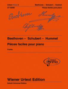PIECES FACILES VOLUME 3 : BEETHOVEN-SCHUBERT-HUMMEL - PIANO