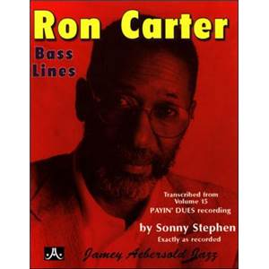 CARTER RON - BASS LINES AEBERSOLD 15 PAYIN' DUES