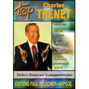 TRENET CHARLES - TOP TRENET CHARLES PIANO SIMPLIFIE PAROLES ET ACCORDS