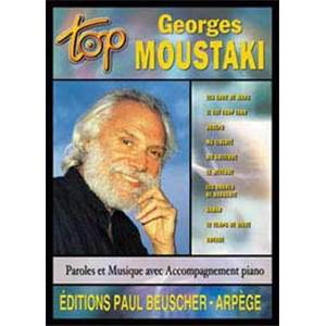 MOUSTAKI GEORGES - TOP MOUSTAKI GEORGES PIANO SIMPLIFIE PAROLES ET ACCORDS