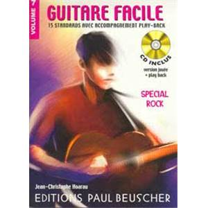 HOARAU JC - GUITARE FACILE VOL.7 SPECIAL ROCK + CD - GUITARE