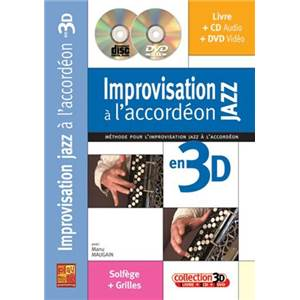 MAUGAIN MANU - IMPROVISATION JAZZ A L'ACCORDEON EN 3D + CD + DVD