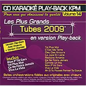 COMPILATION - CD KARAOKE VOL.14 TUBES 2009 AVEC CHOEUR + VERSIONS CHANTEES