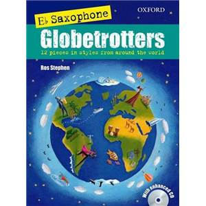 COMPILATION - SAXOPHONE GLOBETROTTERS (E FLAT EDITION) + CD SAXOPHONE MIB / PIANO