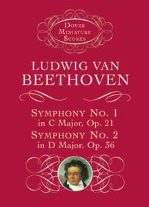 BEETHOVEN - SYMPHONIE No1 OP.21 EN DO MAJ. ET No2 OP.36 EN RE MAJ. - CONDUCTEUR DE POCHE