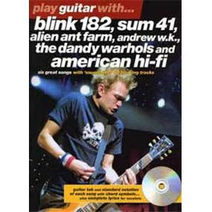 COMPILATION - BLINK 182, SUM41... PLAY GUITAR WITH TAB. + CD