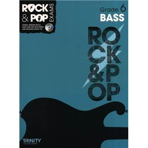 COMPILATION - TRINITY COLLEGE LONDON : ROCK & POP GRADE 6 FOR BASS + CD