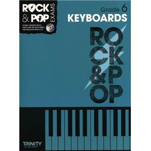COMPILATION - TRINITY COLLEGE LONDON : ROCK & POP GRADE 6 FOR KEYBOARD + CD