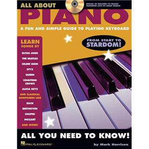 HARRISON MARK - ALL ABOUT PIANO A FUN AND SIMPLE GUIDE TO PLAYING DRUMS + CD