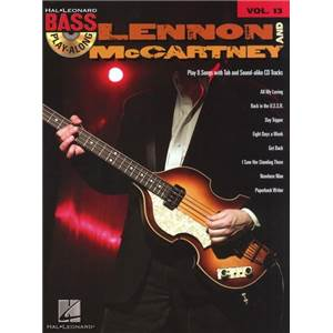 LENNON / MCCARTNEY - BASS PLAY ALONG VOL.13 + CD