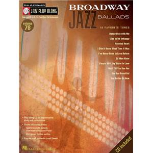 COMPILATION - JAZZ PLAY ALONG VOL.076 BROADWAY JAZZ BALLADS + CD
