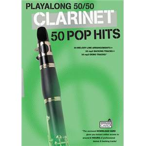 COMPILATION - PLAY ALONG 50/50 CLARINET 50 POP HITS