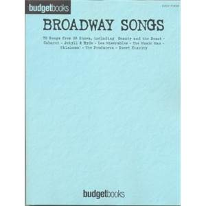 COMPILATION - BUDGETBOOK BROADWAY EASY PIANO/V/G 75 SONGS