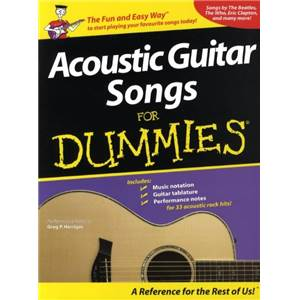 COMPILATION - ACOUSTIC GUITAR SONGS FOR DUMMIES 35 SONGS GUITAR TAB.