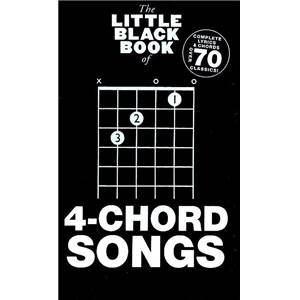 COMPILATION - LITTLE BLACK SONGBOOK 4 CHORD SONGS PLUS DE 70 CHANSONS FORMAT POCHE