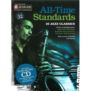 COMPILATION - JAZZ PLAY ALONG VOL.032 ALL TIME STANDARDS + CD