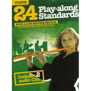 COMPILATION - 24 PLAY ALONG STANDARDS FOR FLUTE + CD