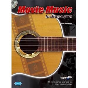 COMPILATION - MOVIE MUSIC FOR CLASSICAL GUITAR + CD