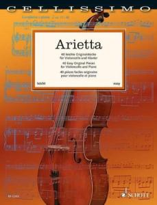 ARIETTA (40 PIECES FACILES ORIGINALES) - VIOLONCELLE ET PIANO