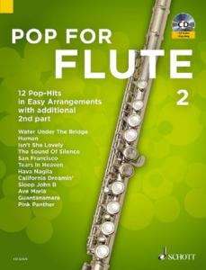 POP FOR FLUTE VOLUME 2 +CD  - FLUTES TRAVERSIERES (1-2)