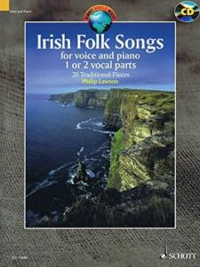 IRISH FOLK SONGS +CD (20 AIRS TRADITIONNELS IRLANDAIS) - UNE OU DEUX VOIX ET PIANO