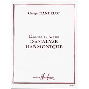 DANDELOT GEORGES - RESUME COURS ANALYSE HARMONIQUE