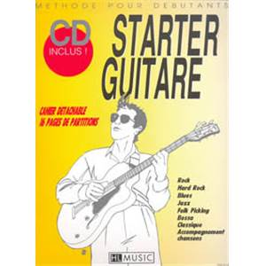 BRUNEAU / ROBERT - STARTER GUITARE METHODE DEBUTANT + CD