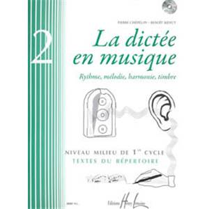 CHEPELOV/MENUT - DICTEE EN MUSIQUE VOL.2 +CD - DICTEES MUSICALES