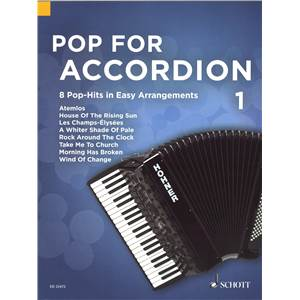 POP FOR ACCORDION VOLUME 1 +CD  - ACCORDEON
