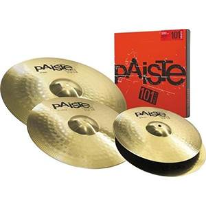 PACK CYMBALES PAISTE 101 UNIVERSAL HIT-HAT 14'' / CRASH 16'' / RIDE 20''