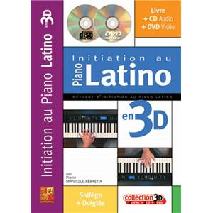 MINVIELLE SEBASTIA PIERRE - INITIATION AU PIANO LATINO EN 3D + CD + DVD