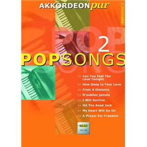 COMPILATION - POPSONGS VOL.2 POUR ACCORDEON