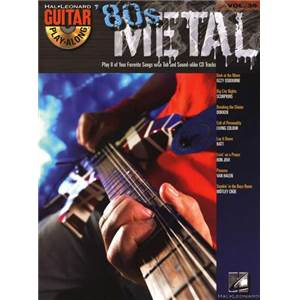 COMPILATION - GUITAR PLAY ALONG VOL.039 80S METAL GUITAR TAB. + CD