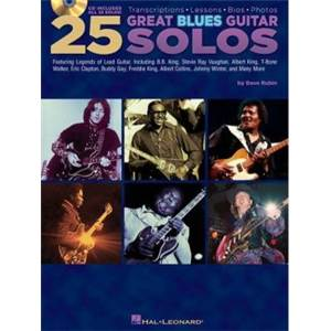 COMPILATION - 25 GREAT BLUES GUITAR SOLOS + CD