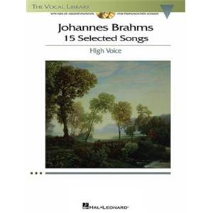 BRAHMS JOHANNES - 15 SELECTED SONGS HIGH VOICE + CD
