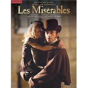 BOUBLIL / SCHONBERG - LES MISERABLES SELECTION FROM THE MOVIE EASY PIANO