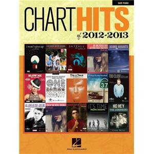 COMPILATION - CHART HITS OF 2012 2013 EASY PIANO/V/G