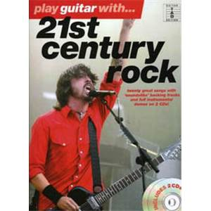 COMPILATION - 21ST CENTURY ROCK PLAY GUITAR WITH + 2CD